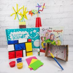 Let yourself be inspired by some of the world's most renowned artists and create your own masterpieces with toucanBox
