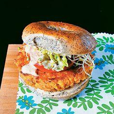Resultado de imagem para tofu burger with arugula and nuts cream