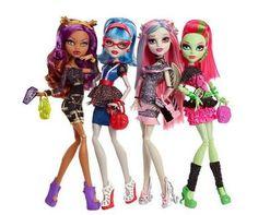 Pack Monster High Ghouls Night Venus, Clawdeen, Rochelle y Ghoulia: Amazon.es: Juguetes y juegos
