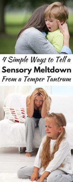 Is your kid having a temper tantrum or a sensory meltdown? They're totally different! This is a must-read for all moms!!