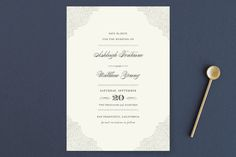 """""""Splendorous"""" - Formal Save The Date Cards in Cream by Design Lotus."""