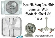 How To Stay Cool This Summer: A Guide to Made in the USA Fans - USA Love List