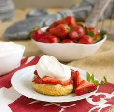 When strawberries are in season, this recipe for Strawberry Shortcake with White Chocolate Whipped Cream will wow your company.