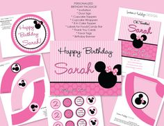DIY Minnie Mouse Party Package by laurenloulolly on Etsy, $30.00