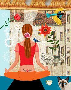 Yoga Woman in Italy