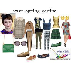 """warm spring gamine"" by expressingyourtruth on Polyvore"