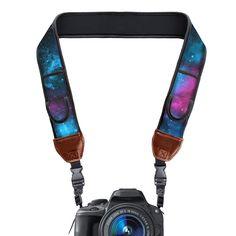 Usa Gear Camera Strap With Adjustable Anti-Slip Neoprene Cushion Galaxy