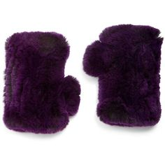 Surell Rabbit Fur Texting Gloves ($36) ❤ liked on Polyvore featuring accessories, gloves, apparel & accessories, purple, rabbit gloves, purple gloves, surell and rabbit fur gloves