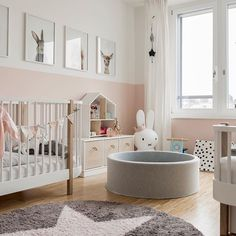 Pink and grey girl nursery. Pink and grey girl nursery. Pink and grey girl nursery. Pink and grey gi Baby Bedroom, Baby Boy Rooms, Baby Room Decor, Kids Bedroom, Baby Room Grey, Nursery Decor, Babies Nursery, Room Baby, Girl Rooms