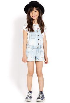 Cuffed Overall Shorts (Kids) #SummerForever #F21Girls - http://AmericasMall.com/categories/juniors-teens.html