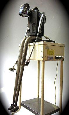 "robot "" love sick"" Ultrajunk Recycled Robot, Recycled Art, Found Object Art, Found Art, Vacuum For Hardwood Floors, Tin Man, Scrap Metal Art, Assemblage Art, Metal Crafts"