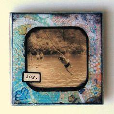 Joy  3x3 Tile Magnet by BiscottiDesigns on Etsy, $10.00