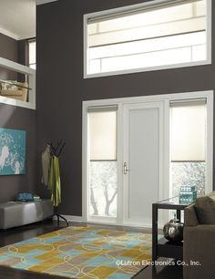 Serena Shades by Lutron connects you and your home to your windows. Custom, motorized shades and blinds for your windows and skylights. Blinds For Large Windows, Automatic Shades, Blinds For Sale, Motorized Shades, Bali Blinds, Honeycomb Shades, Faux Wood Blinds, Smart Home Security, Solar Shades
