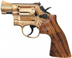 Custom Engraved Gold Plated Smith & Wesson Model 15-3 Double Action Revolver