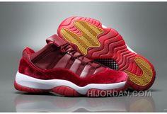 Air Jordan 11 Velvet Heiress Low Burgundy Men New Release GpFJRm dbb607765