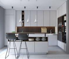 iluminação com pendentes para cozinha moderna