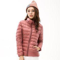 a485a90b4c5 Autumn Winter Down Parka Puffer Jackets For Women Brand Hooded Coat Ultra  Light Duck Womens Hoodes Warm Winter Feather Coats