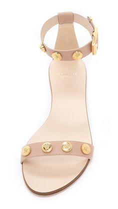 Versace Nude Flat Sandals | SHOPBOP