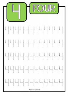 Number Tracing Free Sheets: Numbers 1-10 |