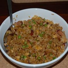 Left over chicken &/or leftover rice made into Nasi Goreng. Rice, onion, garlic, cumin, ground coriander (must have), kecap manis, chicken, veggies. Sometimes for extra flavor I add ramen noodle packet (broth or bullion could be substituted).       Indonesian Fried Rice (Nasi Goreng) Allrecipes.com