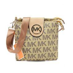 Michael Kors Outlet Fulton Logo Large Beige Crossbody Bags| Michael Kors Outlet Online