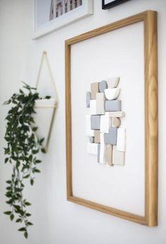 Wall Art Diy Minimalist New Ideas Clay Wall Art, 3d Wall Art, Art 3d, Wall Collage, 3d Wall Decor, Diy Wall, Diy Interior, Diy Hanging, Minimalist Art