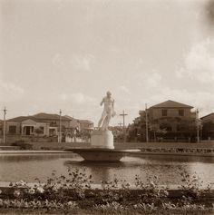Praça General Polidório,  Bairro da Aclimação, SP Foto de 1953.