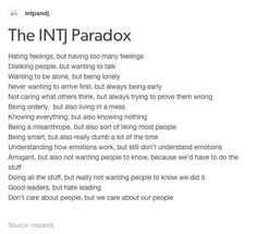 A generalization about us, but applicable to me.  /INTJ