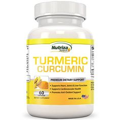Turmeric Powder Capsules - Contains Curcumin Extracted From Turmeric Root - Anti-Inflammatory - Supports Heart, Joints, Liver, and Cardiovascular Health - Turmeric Curcumin Promotes Antioxidants * Tried it! Click the image. Heart Diet, Heart Healthy Diet, Turmeric Root, Turmeric Curcumin, Curcumin Extract, Cardiovascular Health, Vitamins And Minerals, Healthy Drinks, Herbalism