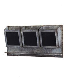 Look what I found on #zulily! Aluminum Black Board Shelf #zulilyfinds