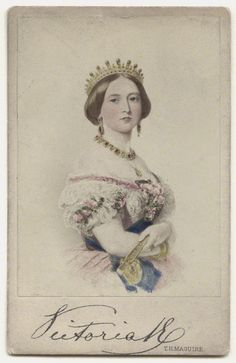 Only child of Prince Edward Augustus Duke of Kent (1767–1820) & Princess Victoria (1786–1861) of Saxe-Coburg & wife of Prince Albert of Saxe Coburg & Gotha (1819-1861). Queen Victoria (1819-1901) by Artist Unknown in 1850s-60s.