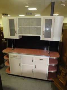 Don't know where I'd put it but I love it! - Amazing Vintage Retro Deco  Kitchen Dresser Red Laminate
