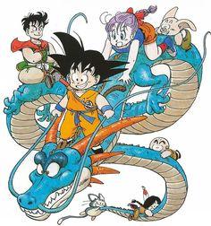 dragon ball - manga - Gokū Bulma Yamcha Oolung Krilin