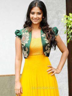 Aditi Sharma Gallery Telugu Actress Gallery stills images clips Kurta Designs, Kids Blouse Designs, Sari Blouse Designs, Kurti Designs Party Wear, Dress Neck Designs, Long Dress Design, Stylish Dress Designs, Designs For Dresses, Stylish Dresses