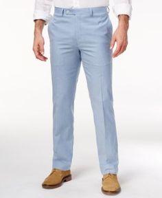 Lauren Ralph Lauren Men's Classic-Fit Blue Seersucker Cotton Dress Pants - Light Blue 42x32