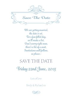 Our wedding invitation and stationery suite 'Emily Jane' design is simple yet elegant.  Available in a variety of colours.