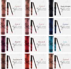 New Kylie Jenner Lip Kit Liquid Lipstick Matte Lip Liner Candy K Dolce 27 Colors #Unbranded