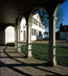 Colonnade adjoining Mount Vernon, home of George Washington.