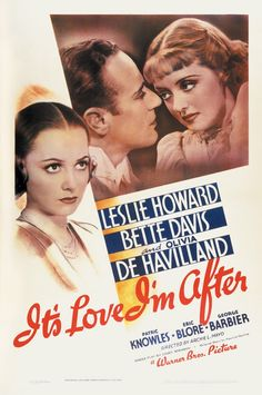 It's Love I'm After, 1937