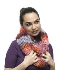 Hand Knit Mohair Boho Shrug Convertible to an Infinity scarf. By Solandia  #scarf #shrug #mohair #women #fashion #accessories