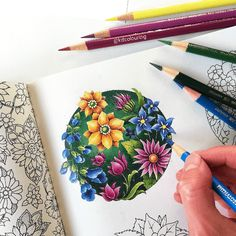 with 🌷🌿🌺🌿🌷🌿🌺🌿🌷 I've been colouring this while waiting for my copy of to… Coloring Book Art, Adult Coloring, Coloring Pages, Colored Pencil Tutorial, Colored Pencil Techniques, Colored Pencil Artwork, Color Pencil Art, Joanna Basford, Johanna Basford Secret Garden