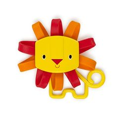 #baby #Roar-O-Rattle is a teether and rattle all in one. Lion's soft, textured mane provides teething fun at #every turn. Rattle beads keep baby entertained and l...