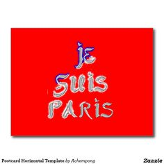 Postcard Horizontal Template #Postcard #Horizontal #Template #Je #Suis #Paris I #love Paris. This is one of the greatest #inspirational #French #design as far as the love and #history of France is concerned