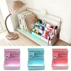 d3aede2f94b Paper Board Storage Box Desk Decor Stationery Makeup Cosmetic Organizer  Case DIY. eBay. Cute Office ...