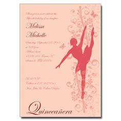 Ballerina Invitation | QuinceaneraCards.net