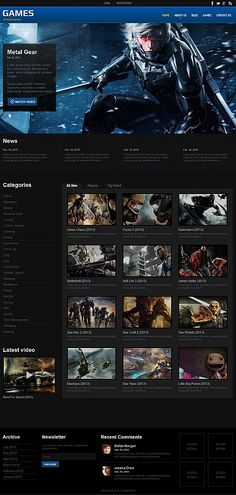 Games •  Espresso Web Inspiration at your Coffee Break! Moto CMS HTML • Template #55660
