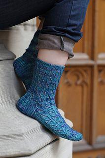 Polyommatus argiolus Socks / The Knitter's Curiosity Cabinet, Volume II