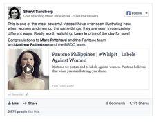 Sheryl Sandberg's view on the viral Pantene ad.