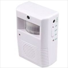 White Portable Infrared & Light Control Motion Activated Entry Alarm Greeting Doorbell