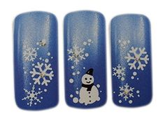 White Christmas Holiday Design Nail Art Wrap Water Transfer Decals for NaturalFalse Nails >>> Visit the image link more details.